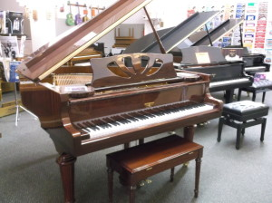 "5'0"" Hardman Peck Crescendo Grand Piano Special Edition - Very Ornate Mahogany High Gloss Polish 10 Year Warranty Free Local Delivery & Tuning #600450219 Our Price: $9995.00"